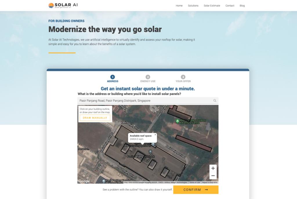 Solar AI solar estimate solar assessment quote